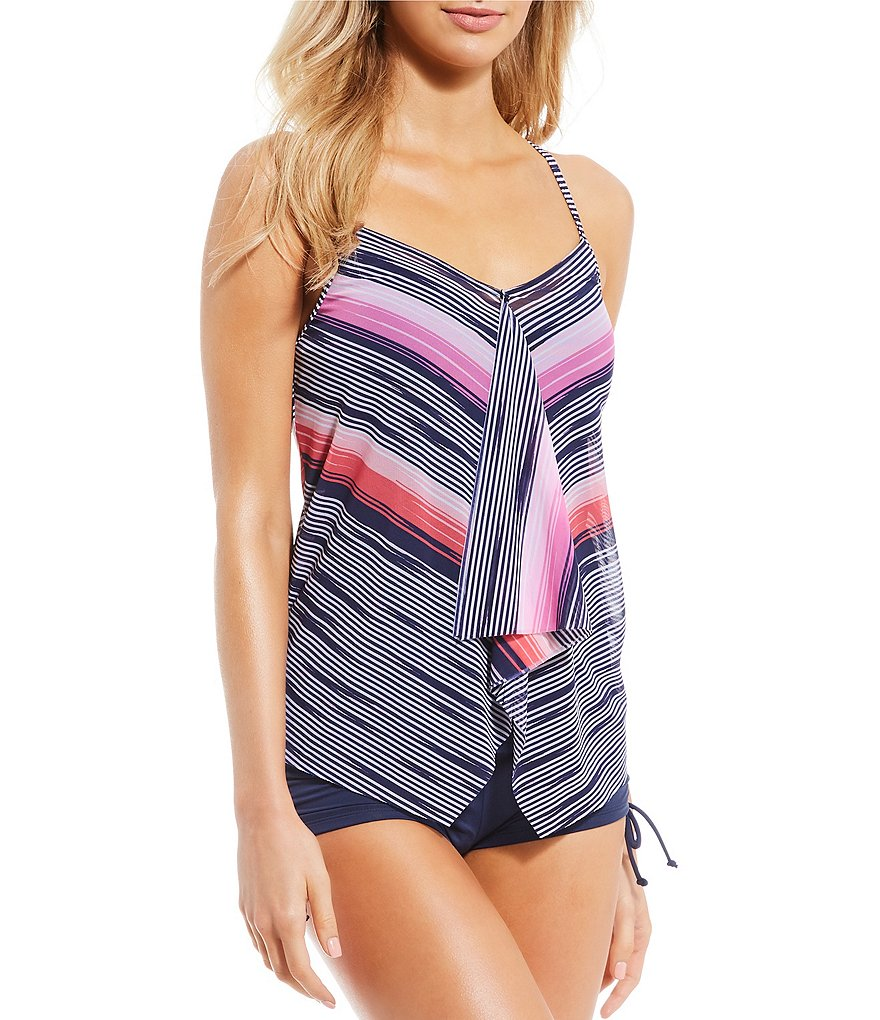 Best Swimsuit with More Coverage: Beach House Set Sail Tankini Swimsuit