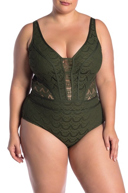 BECCA Show & Tell One-Piece Swimsuit in Bay Leaf
