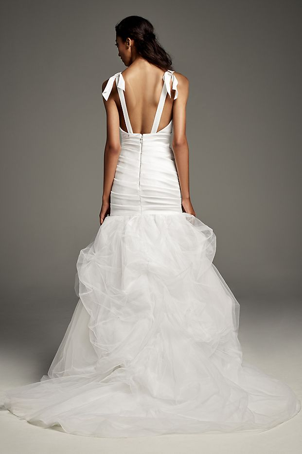 White by Vera Wang Mikado Wedding Dress with Tossed Tulle Skirt