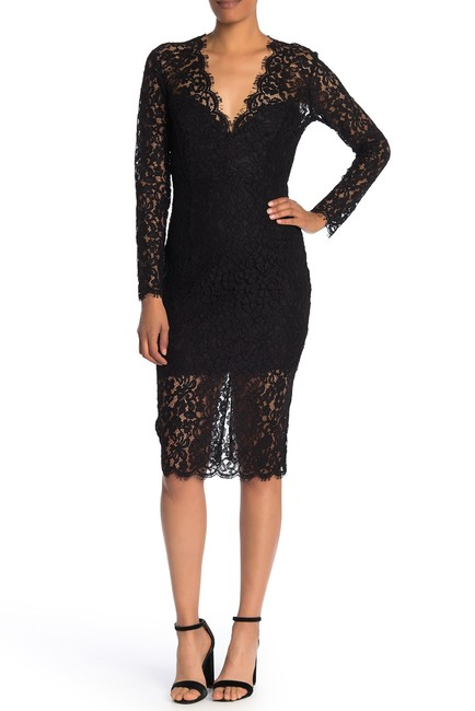 Bardot Midnight Long Sleeve Lace Dress