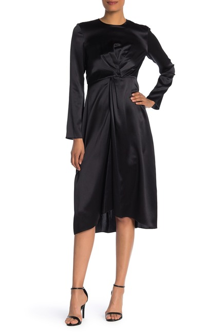 Vince Twist Front Silk Dress