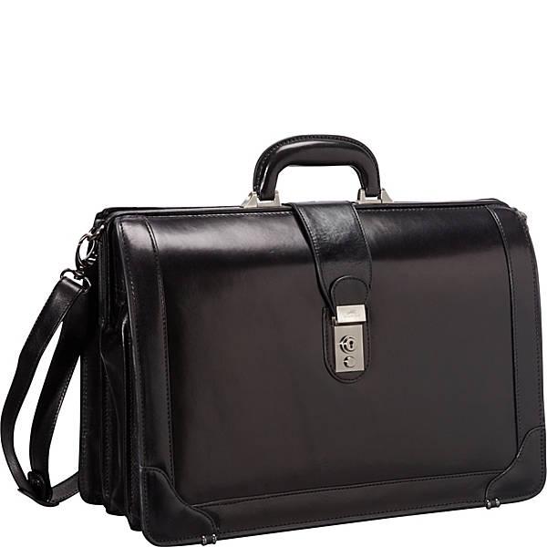 Mancini Leather Goods Luxurious Italian Leather 17″ Laptop Briefcase