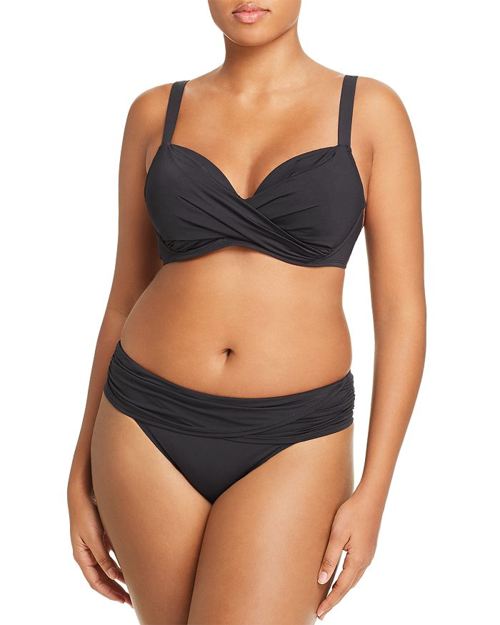 Bleu Rod Beattie Plus Underwire Bra Bikini Top & Hipster Bikini Bottom
