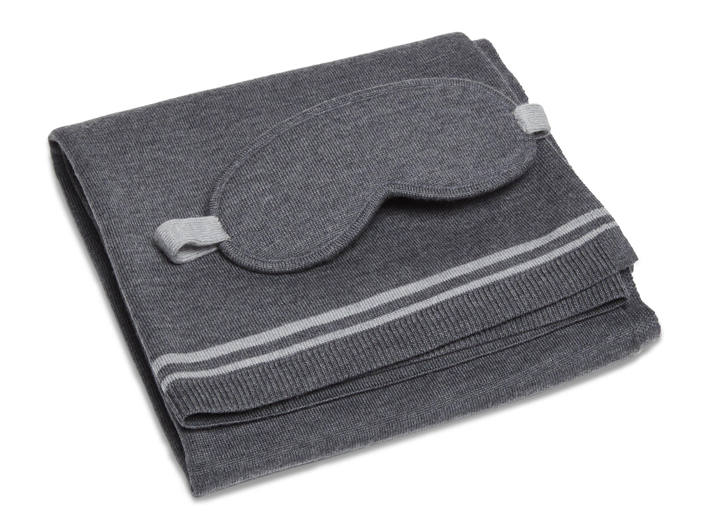Merino Travel Kit Blanket + Eye Mask + Carrying Case