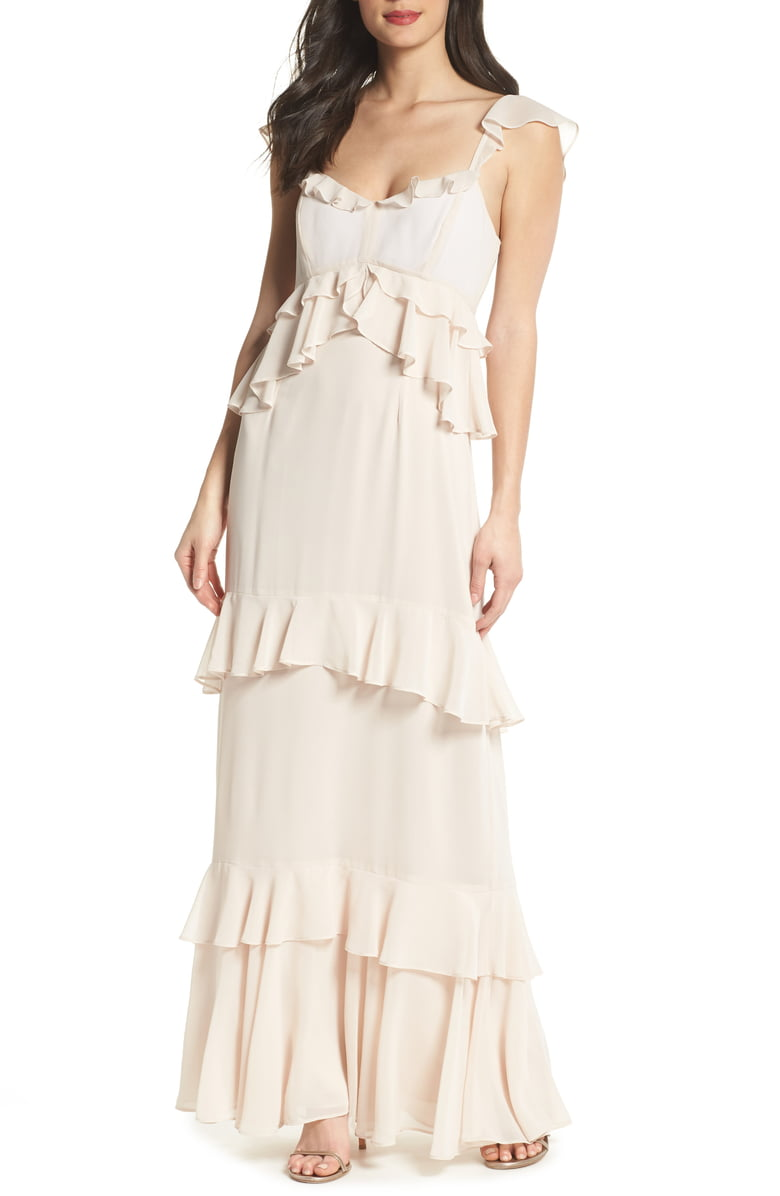 WAYF The Gywneth Ruffle Maxi Gown