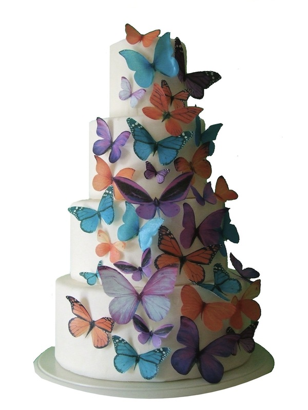 Edible butterfly wedding cay diy decor