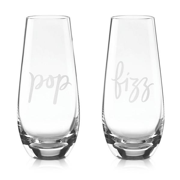 Kate Spade Stemless Champagne Glasses