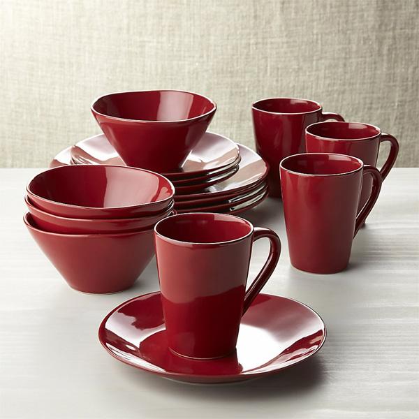 Marin Red Dinnerware