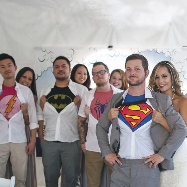 SuperheroWeddingClassicSuperheroLogoShirts