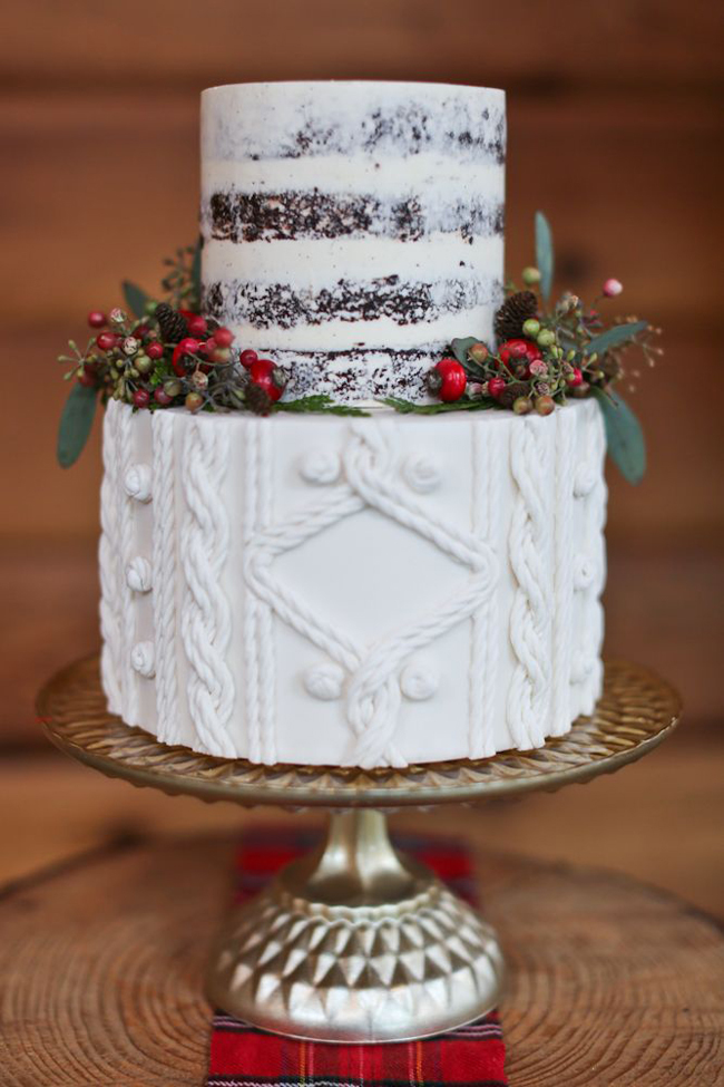 Winter wedding cakes - 1