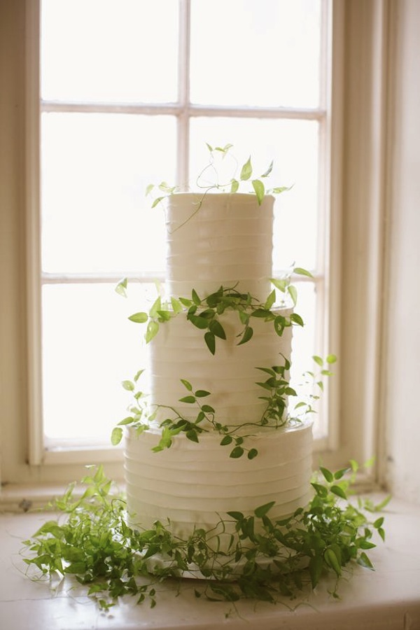 Vine wrapped organic wedding cake