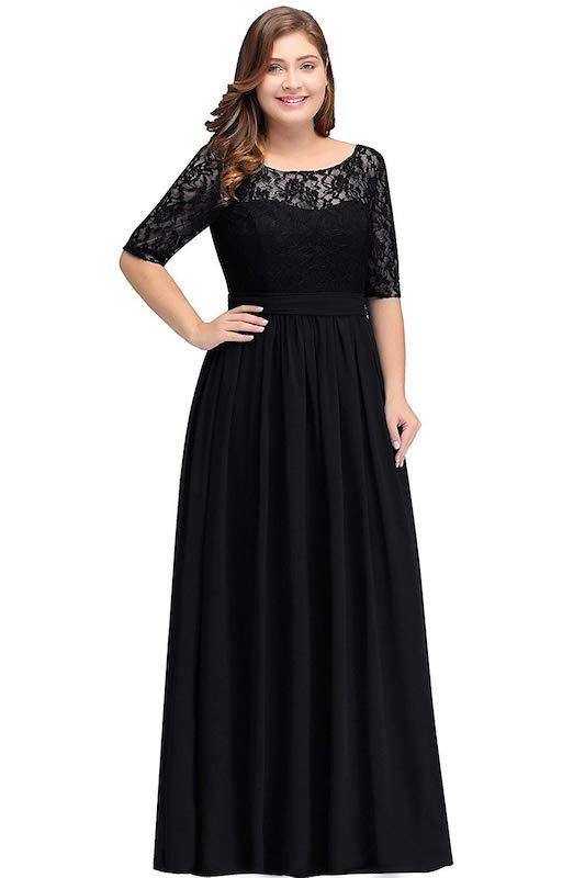 Babyonlinedress Plus-Size Chiffon Evening Dress