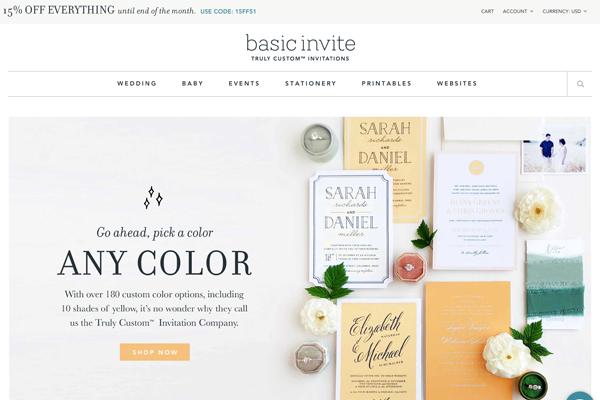 Basic Invite Wedding Website