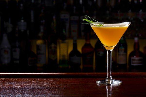 martini cocktail on bar
