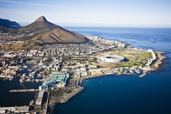aerial view of Cape Town, Africa