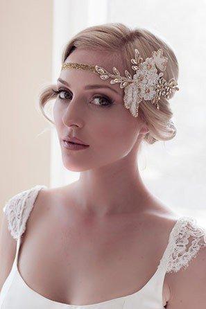 Vintage Look with Bridal Headband