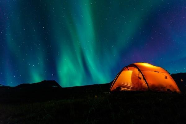 Anchorage, Alaska nighttime stars