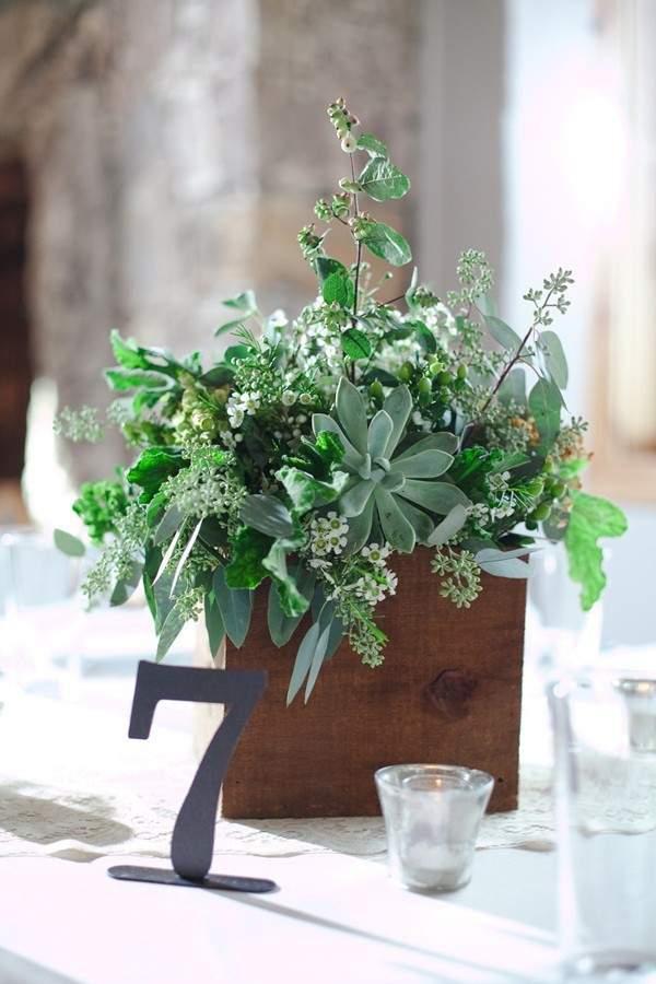 Herb Centerpieces Details For Garden Weddings Mywedding