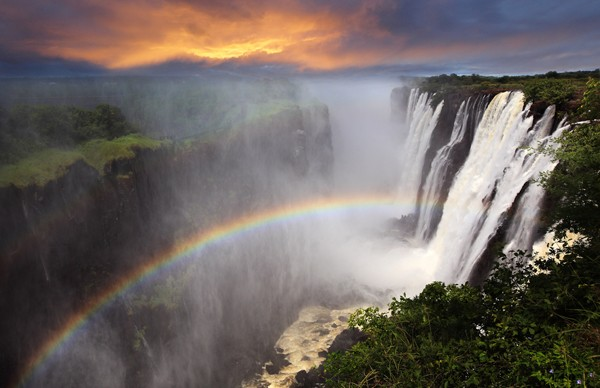 romantic destination wedding spot at Victoria Falls in Africa