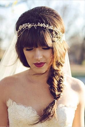 Fishtail Braid with Bridal Headband