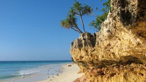 beach ceremony site in Zanzibar, Africa