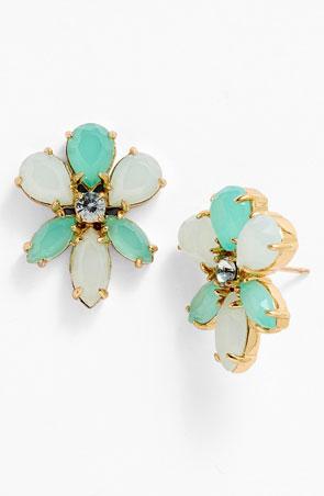 'Gardens of Paris' oversize stud earrings