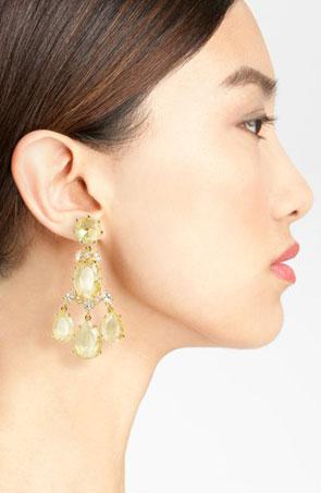 'Up the Ante' stone chandelier earrings