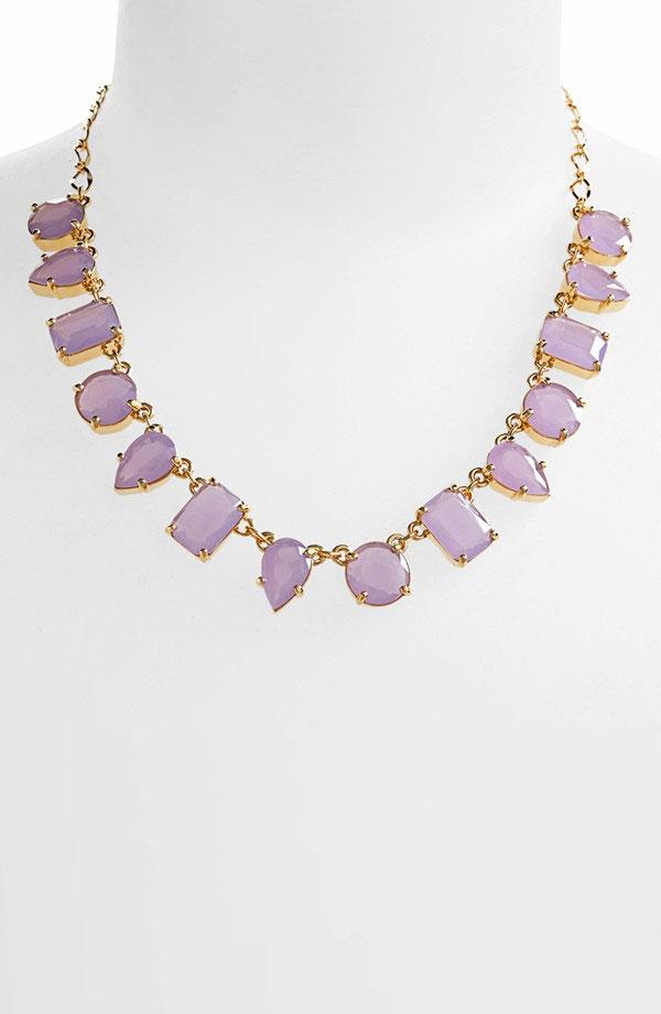 'Gumdrop Gems' stone frontal necklace