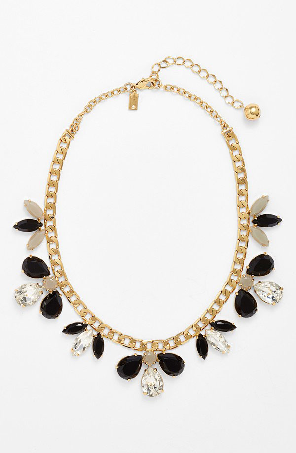 'Gardens of Paris' stone frontal necklace
