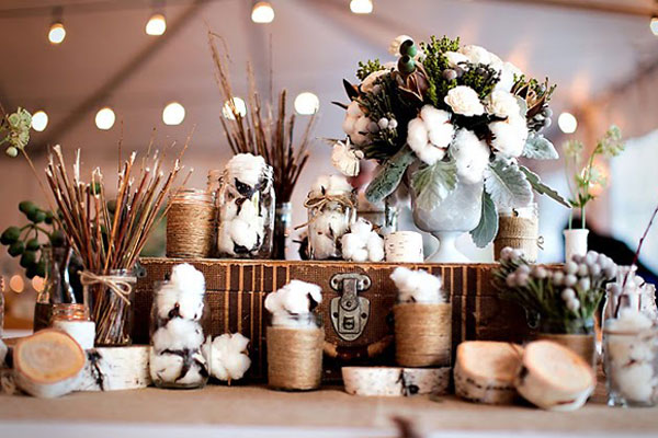 Cotton Wedding Bouquets Centerpieces Mywedding