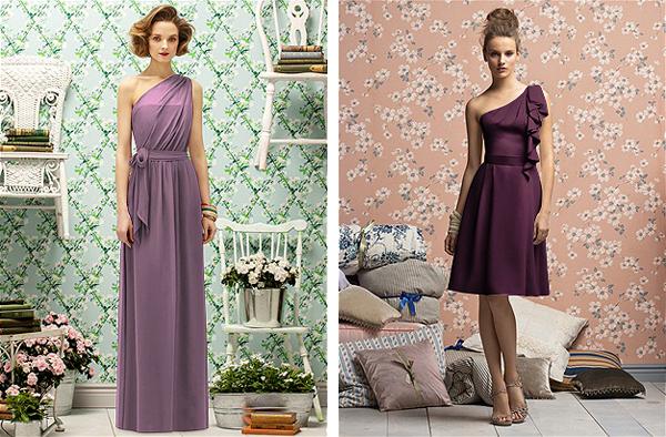 Purple Bridesmaid Dresses Mywedding