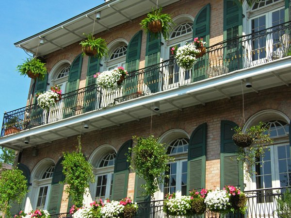 Window sills in New Orleans, LA