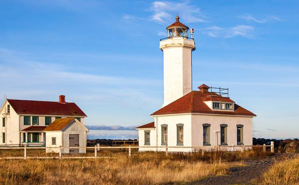 Port Townsend lighthouse in harbor home