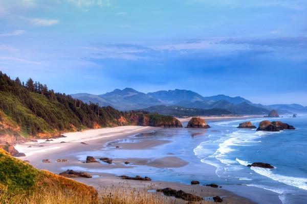Cannon Beach coastline in Oregon