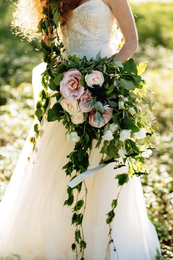 organic cascading ivy bouquet