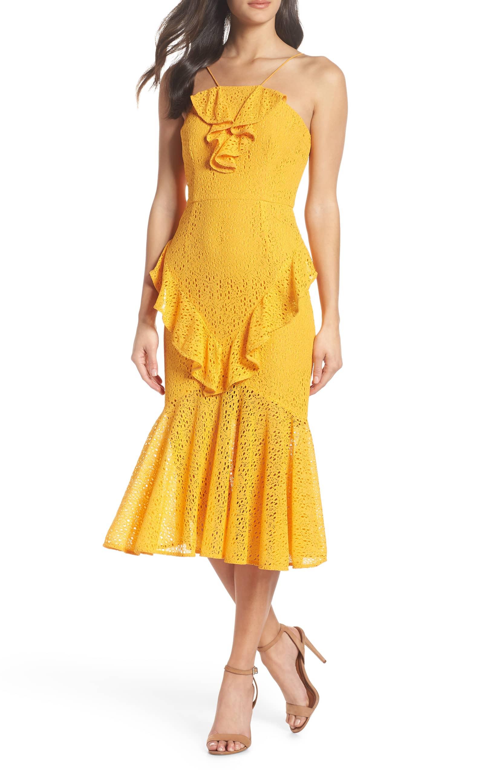 Cooper St Garland Frill Lace Midi Dress