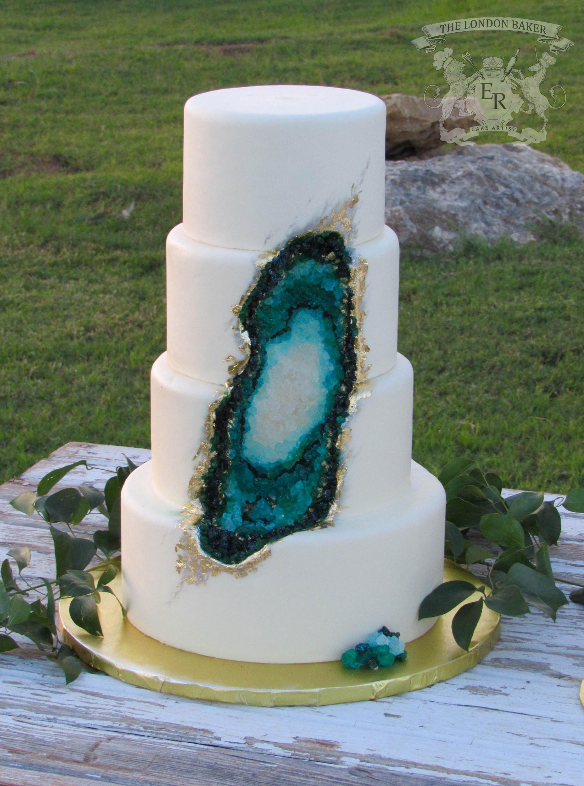 Jewel Tone Geode Cake