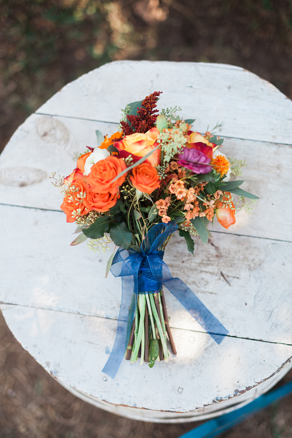 Planning a wedding - colorful wedding bouquet