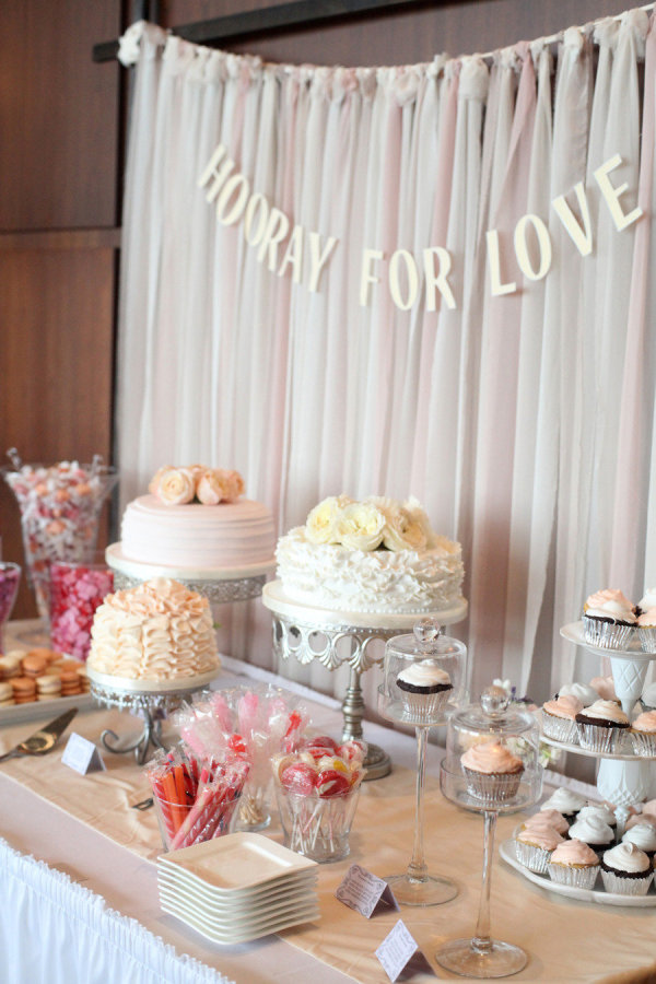 Decadent dessert table for wedding