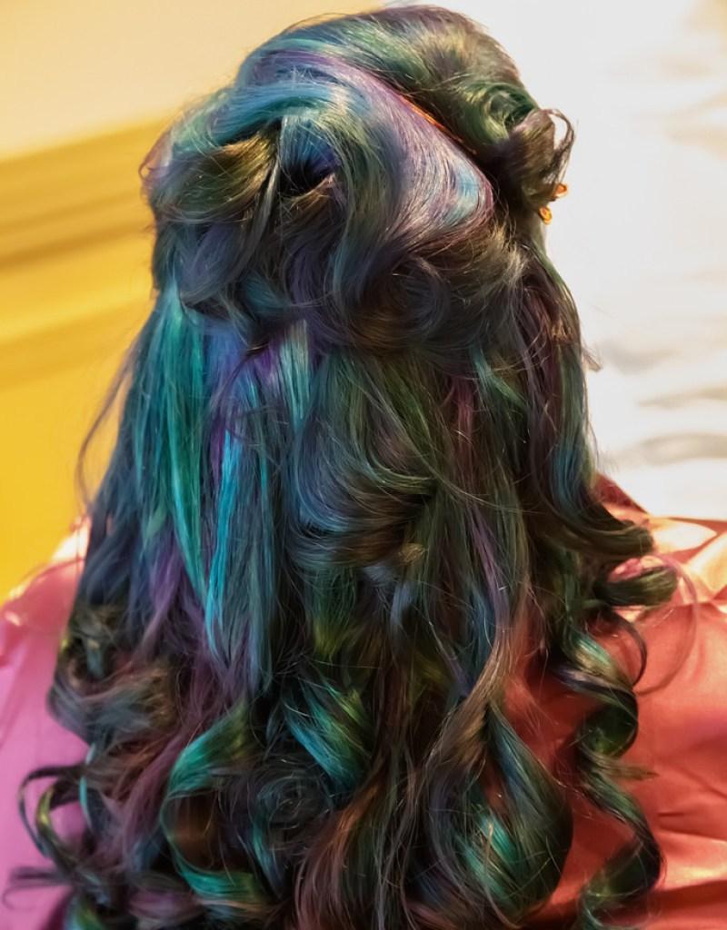 multicolored hair dye