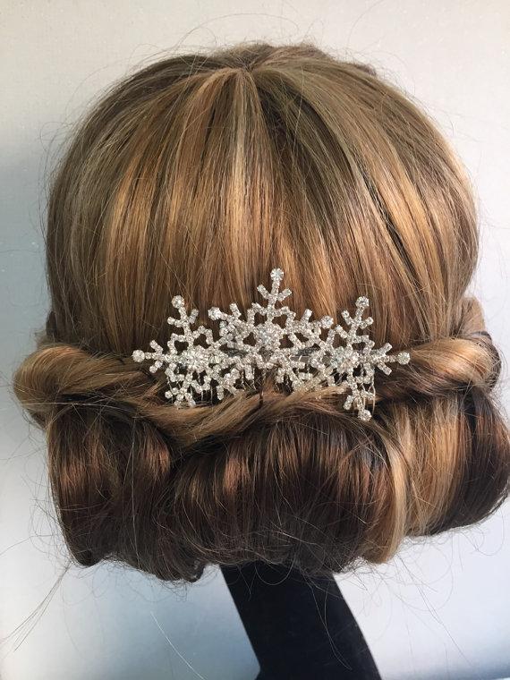 snowflake hair comb