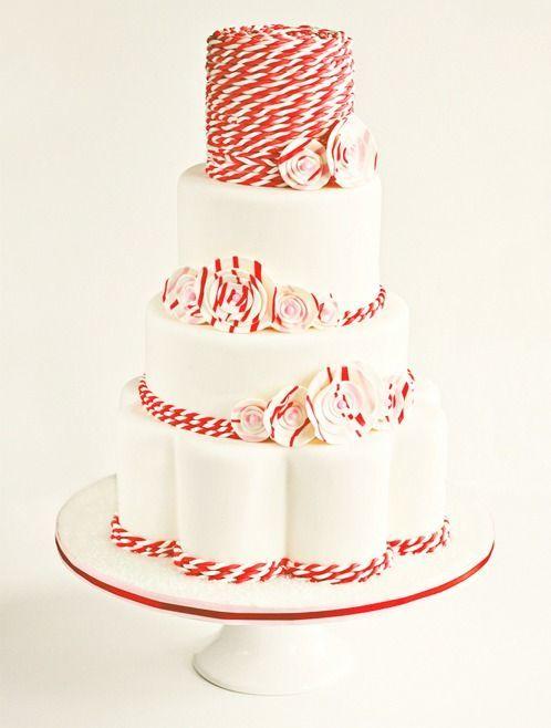 peppermint cake topper