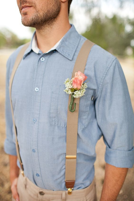 Summer wedding suspenders