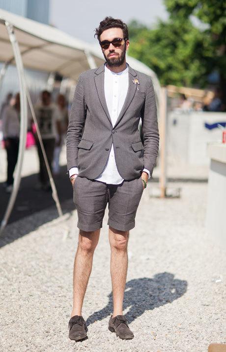 Summer wedding groom shorts