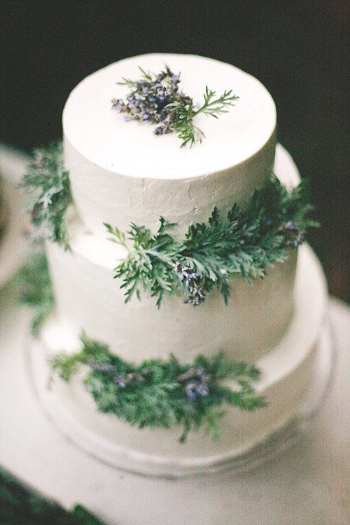 evergreen cake decor