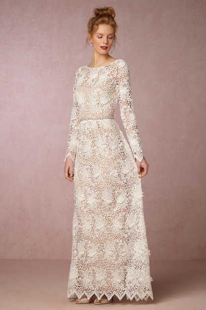 long sleeved lace dress