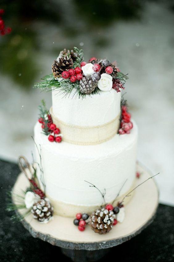 winter cake decor