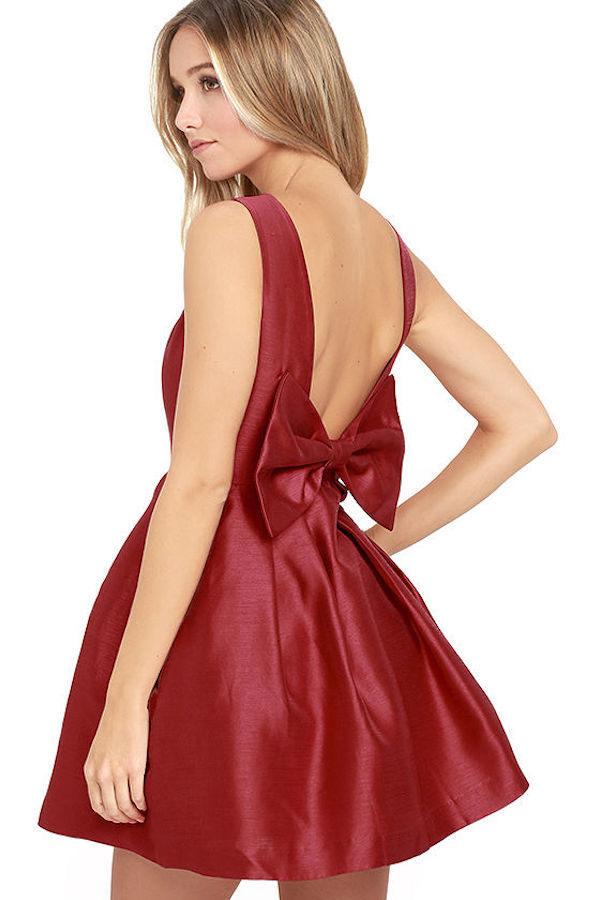 Bows on dresses for weddings