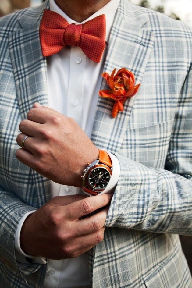 Summer wedding patterned suit