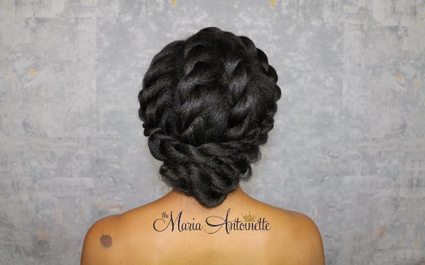 thick braided updo